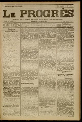 Le Progrès (1841-1914) 1905-08-27