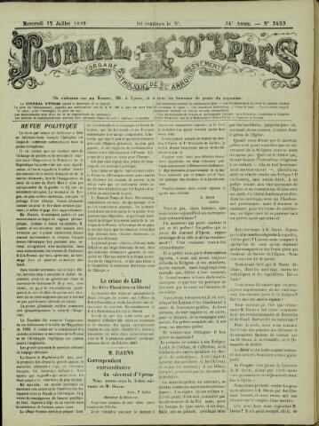 Journal d'Ypres (1874 - 1913) 1899-07-12