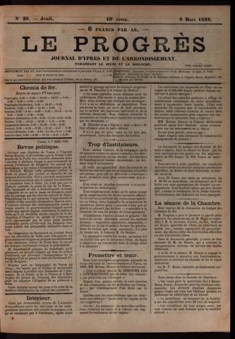 Le Progrès (1841-1914) 1888-03-08