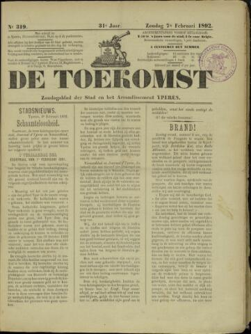 De Toekomst (1862 - 1894) 1892-02-07