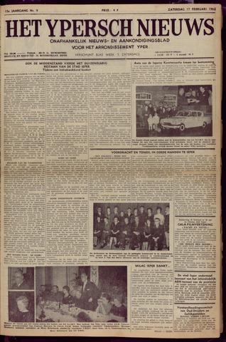 Het Ypersch nieuws (1929-1971) 1962-02-17