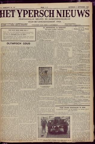 Het Ypersch nieuws (1929-1971) 1960-09-03