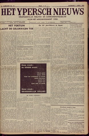 Het Ypersch nieuws (1929-1971) 1963-04-06
