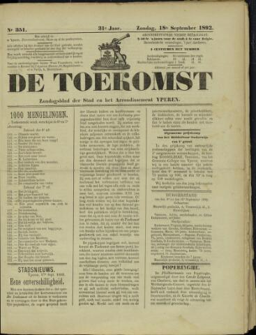 De Toekomst (1862 - 1894) 1892-09-18