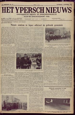 Het Ypersch nieuws (1929-1971) 1962-10-06