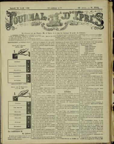 Journal d'Ypres (1874 - 1913) 1900-04-28