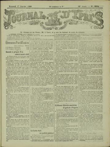 Journal d'Ypres (1874 - 1913) 1900-01-17