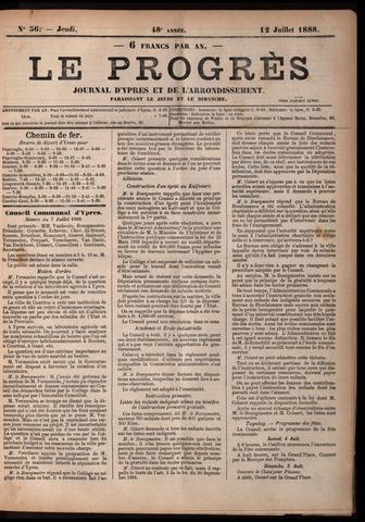 Le Progrès (1841-1914) 1888-07-12
