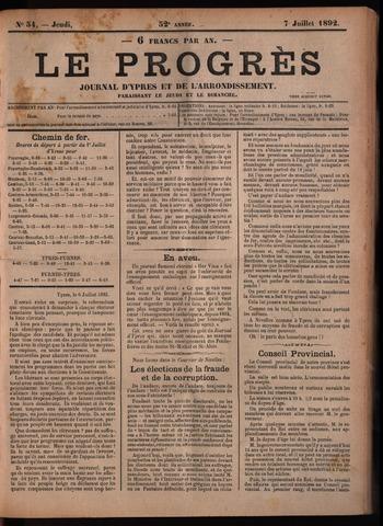 Le Progrès (1841-1914) 1892-07-07