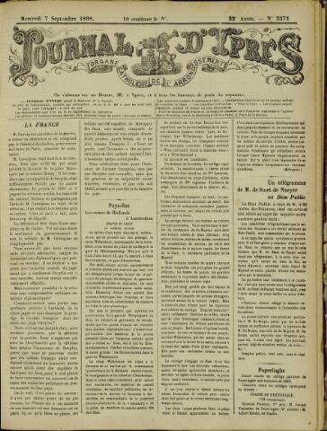 Journal d'Ypres (1874 - 1913) 1898-09-07