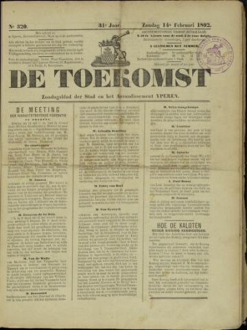 De Toekomst (1862 - 1894) 1892-02-14
