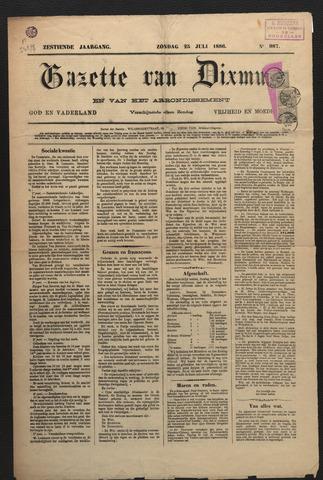 Gazette van Dixmude 1886
