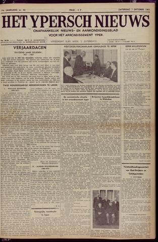 Het Ypersch nieuws (1929-1971) 1961-10-07