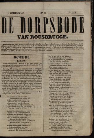 De Dorpsbode van Rousbrugge (1856-1857 en 1860-1862) 1857-09-01