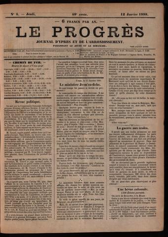Le Progrès (1841-1914) 1888-01-12