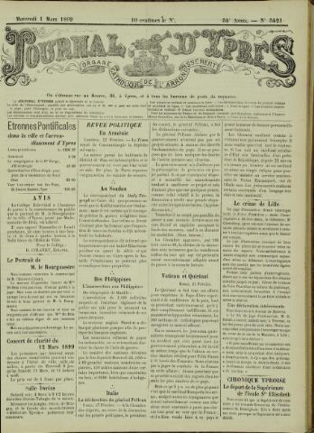 Journal d'Ypres (1874 - 1913) 1899-03-01