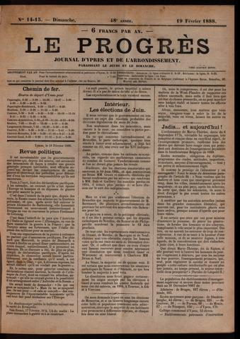 Le Progrès (1841-1914) 1888-02-19