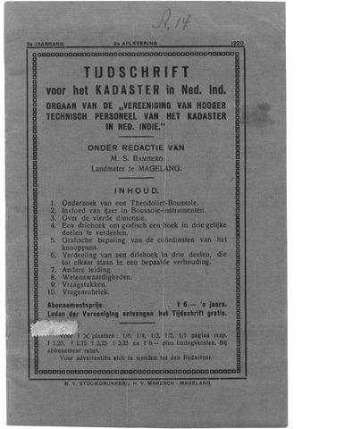 Tijdschrift voor het Kadaster in Ned.-Indië 1920-04-01