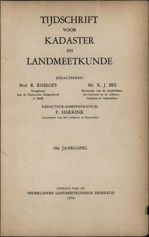 Tijdschrift voor Kadaster en Landmeetkunde (KenL) 1950-01-01