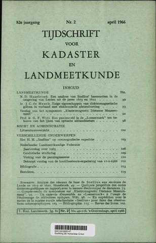 Tijdschrift voor Kadaster en Landmeetkunde (KenL) 1966-04-01