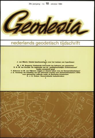 (NGT) Geodesia 1984-10-01
