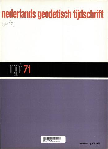 Nederlands Geodetisch Tijdschrift (NGT) 1971-11-01