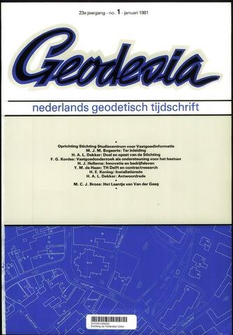 (NGT) Geodesia 1981-01-01