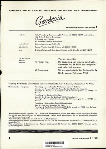 (NGT) Geodesia 1961-01-01
