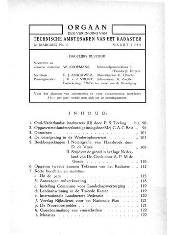 Orgaan der Vereeniging TAK 1949-03-01