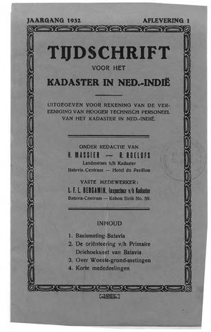 Tijdschrift voor het Kadaster in Ned.-Indië 1932-01-01