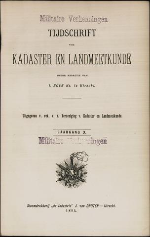 Tijdschrift voor Kadaster en Landmeetkunde (KenL) 1894