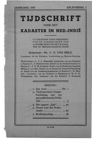 Tijdschrift voor het Kadaster in Ned.-Indië 1937-01-01