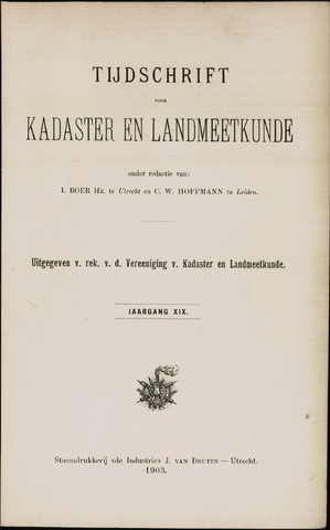 Tijdschrift voor Kadaster en Landmeetkunde (KenL) 1903