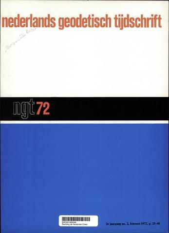 Nederlands Geodetisch Tijdschrift (NGT) 1972-02-01
