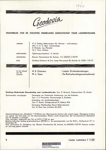 (NGT) Geodesia 1960-01-01