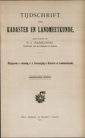 Tijdschrift voor Kadaster en Landmeetkunde (KenL) 1911
