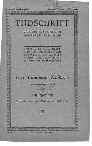 Tijdschrift voor het Kadaster in Ned.-Indië 1923-10-01