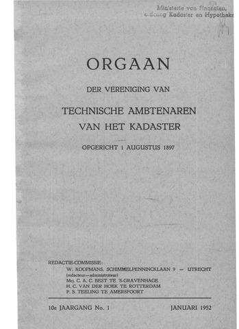 Orgaan der Vereeniging TAK 1952