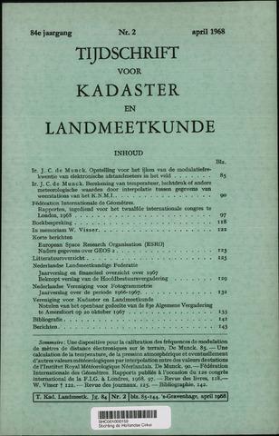 Tijdschrift voor Kadaster en Landmeetkunde (KenL) 1968-04-01