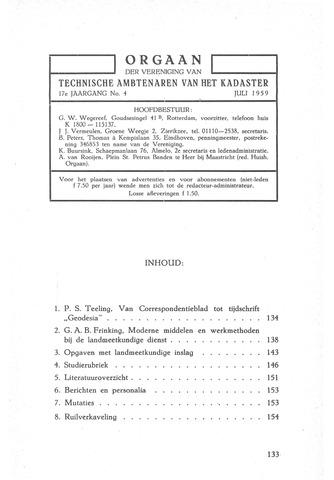 Orgaan der Vereeniging TAK 1959-07-01
