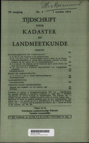 Tijdschrift voor Kadaster en Landmeetkunde (KenL) 1954-10-01