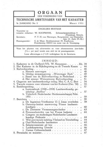 Orgaan der Vereeniging TAK 1951-03-01