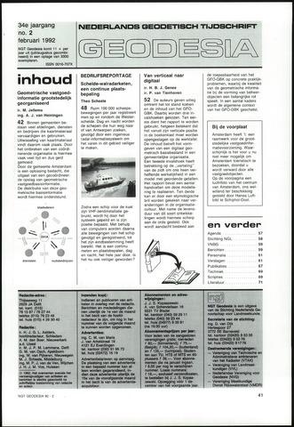 (NGT) Geodesia 1992-02-01