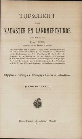 Tijdschrift voor Kadaster en Landmeetkunde (KenL) 1922-01-01