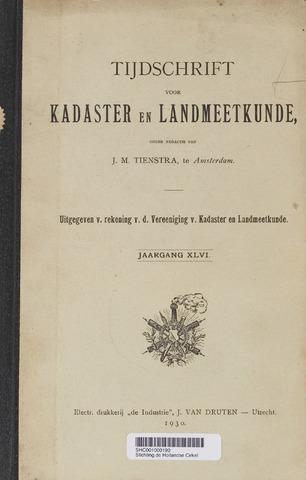 Tijdschrift voor Kadaster en Landmeetkunde (KenL) 1930-01-01