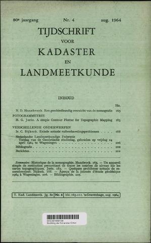 Tijdschrift voor Kadaster en Landmeetkunde (KenL) 1964-08-01