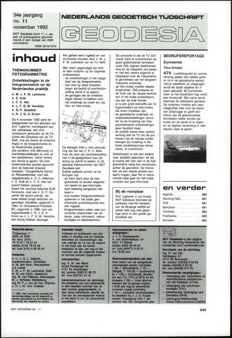 (NGT) Geodesia 1992-11-01