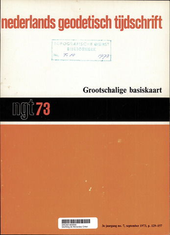 Nederlands Geodetisch Tijdschrift (NGT) 1973-09-01