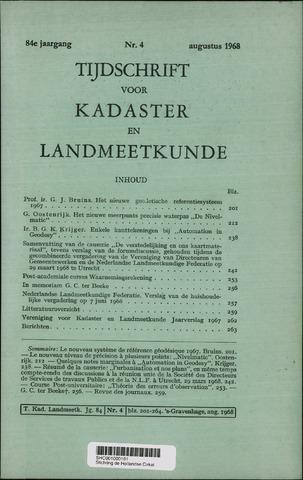 Tijdschrift voor Kadaster en Landmeetkunde (KenL) 1968-08-01