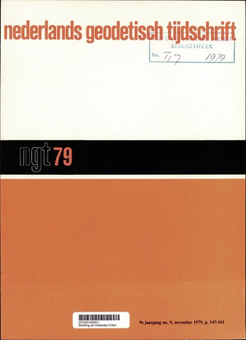 Nederlands Geodetisch Tijdschrift (NGT) 1979-11-01